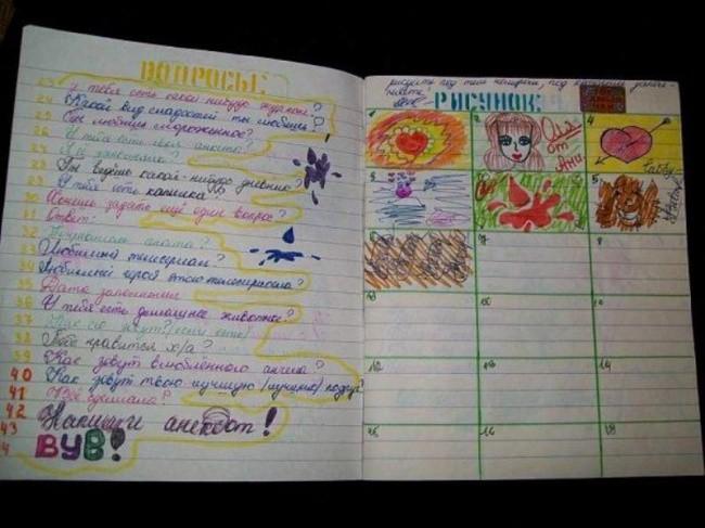 Как создать свою тетрадь - Planetarium71.ru