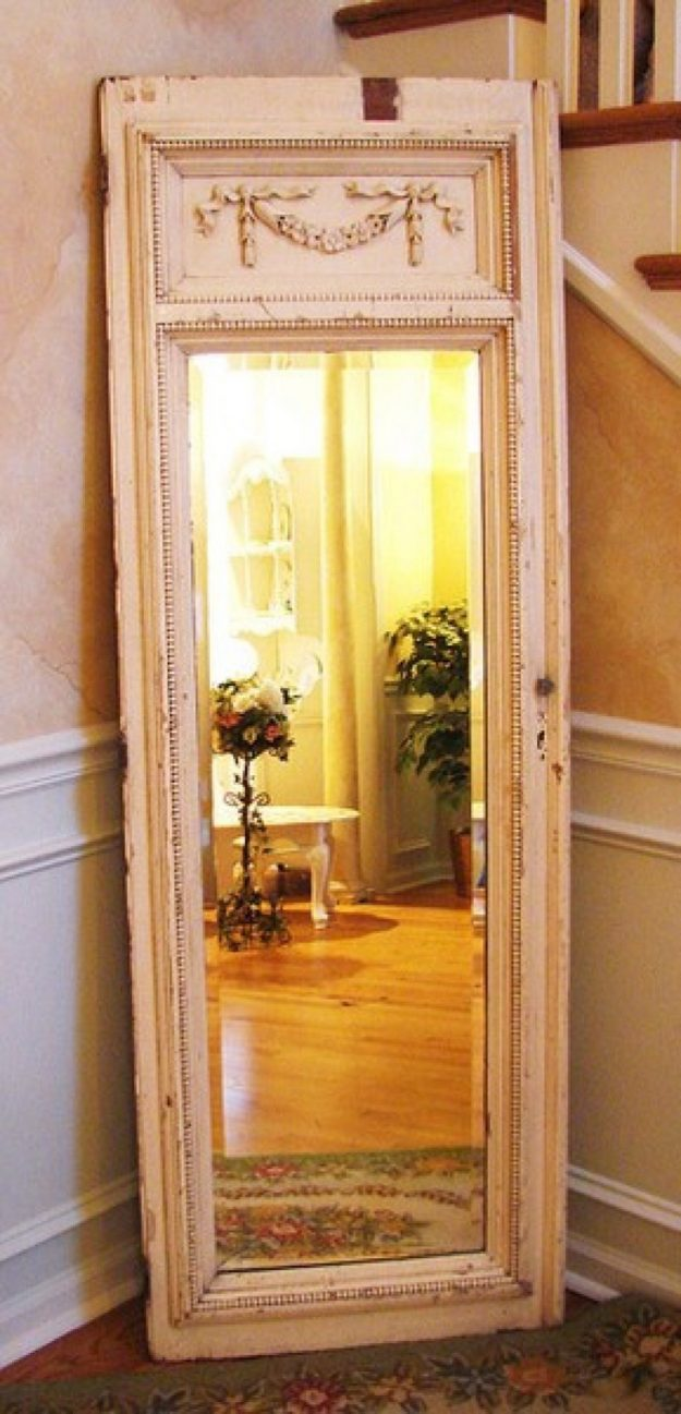 Обновление старого зеркала своими руками 79