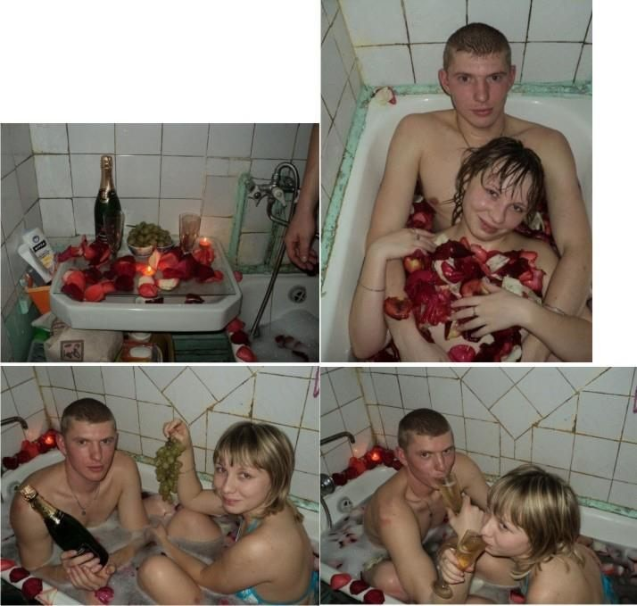 она закрылась в ванне