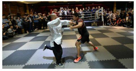 MMA против традиционных китайских единоборств: бой длился лишь несколько секунд
