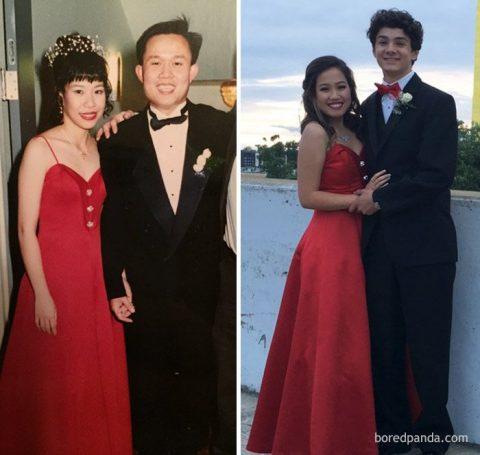 Эти девушки надели те же платья на выпускной, что и их мамы десятилетия назад