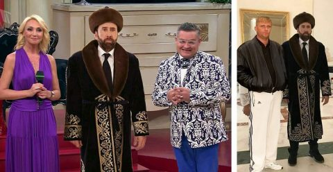 Похождения Николаса Кейджа в Казахстане: соцсети бурно отреагировали на фото
