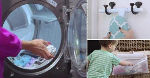 Скатайте фольгу в комок и бросьте в стиральную машину. Звучит безумно, но это реально работает!