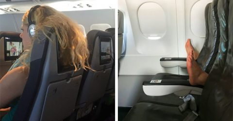 20 авиапассажиров, которых вы бы не хотели увидеть рядом с собой в самолете