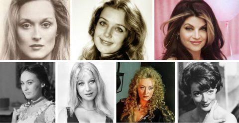 Красивые в молодости, известные в старости