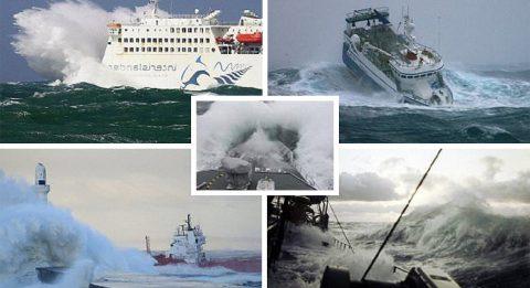 Шокирующие фото кораблей во власти морской стихии
