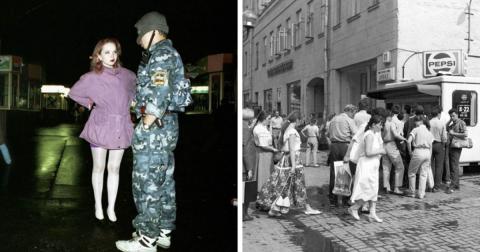 "18 ретро-фото: Москва в эпоху ""лихих 90-х"""