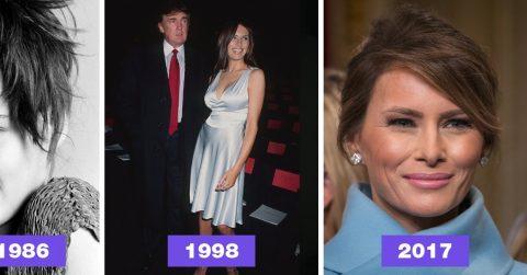 Эволюция красоты: как менялась Мелания Трамп