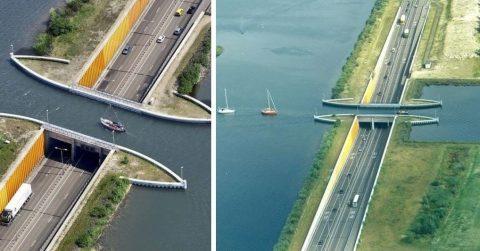 Ломая стереотипы: в Голландии есть удивительный водный мост