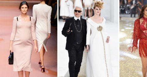 Ирина Шейк и другие модели, выходивших на подиум в «интересном» положении