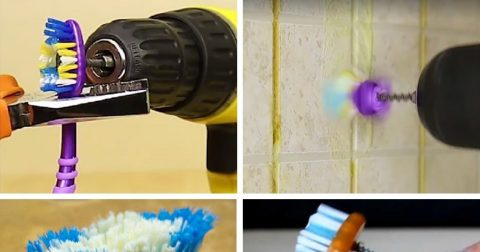 Необычные примеры использования зубной щетки