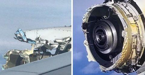 У аэробуса развалился двигатель: пассажиры авиакомпании Air France наблюдали это во время полета