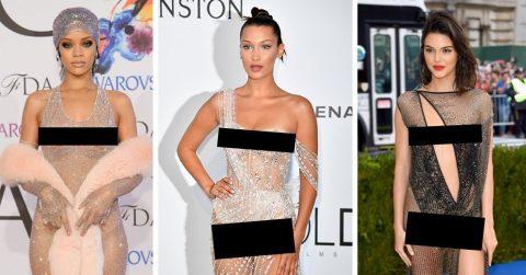 Знаменитости, которые обожают «голые» платья и показывают фанатам все части своего тела