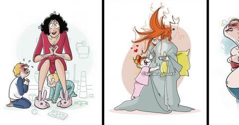 25 честных иллюстраций о том, что значит быть мамой