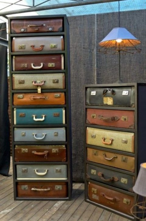Переделки – это модно и экономно. 17 примеров, что можно сделать из старого чемодана