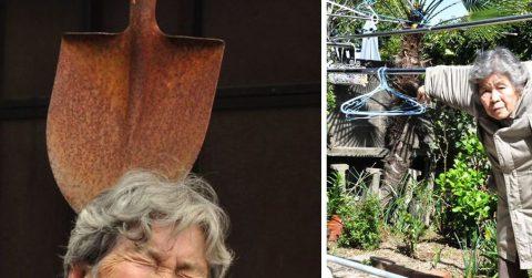 89-летняя японская бабушка снимает очень веселые автопортреты