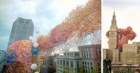 Попытка установить мировой рекорд с воздушными шарами закончилась очень печально