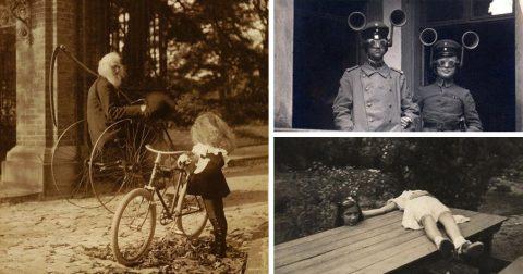 Странные и жуткие снимки прямиком из прошлого