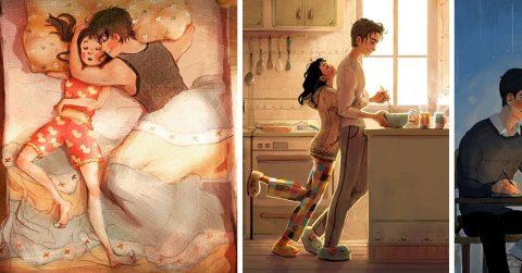 7 иллюстраций, которые доказывают, что любовь – она в мелочах