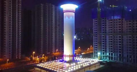 Самый большой городской очиститель воздуха в мире запускают в Китае