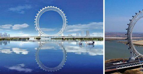Китайцы снова удивили весь мир, построив колесо обозрения без оси
