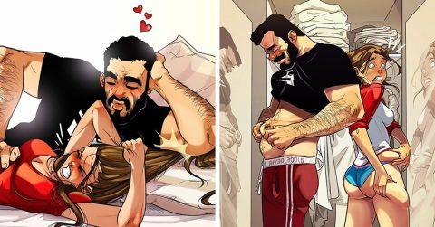 Художник из Израиля продолжает рисовать забавные и одновременно трогательные комиксы о себе и своей жене