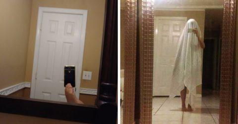 Новое развлечение Интернета: люди продают зеркала и фотографируют их, пытаясь не попасть в кадр