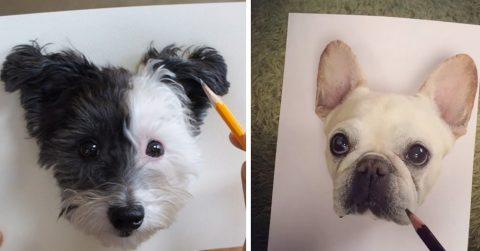 Новый флешмоб: люди делают вид, что рисуют своих домашних питомцев