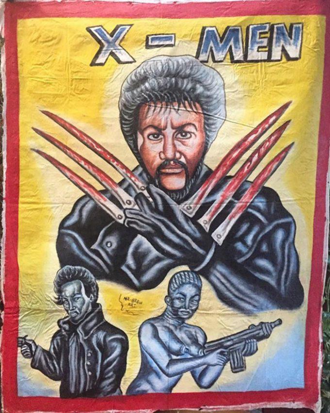Африканские рукописные афиши голливудских блокбастеров 90-х