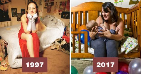 Соседи до и после: фотограф показала, как могут меняться люди за 20 лет
