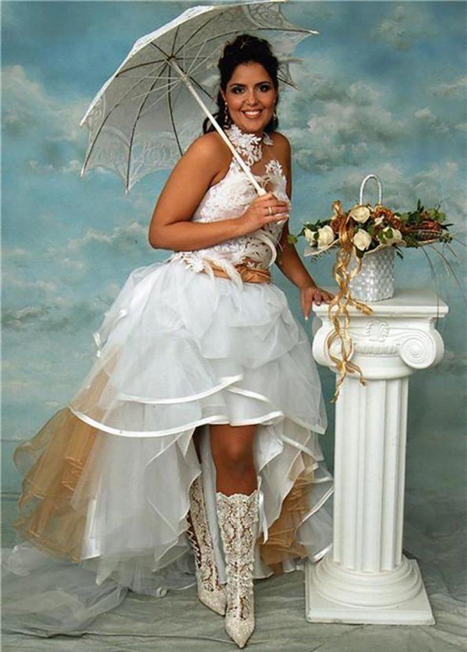 самые нелепые свадебные наряды фото так мамаша рассуждает