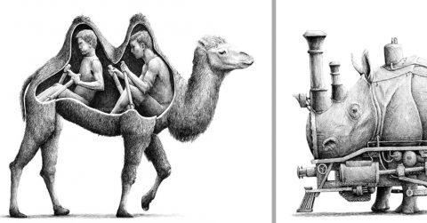 Сюрреалистичные иллюстраций, которые перевернут ваше представление о привычных вещах с ног на голову
