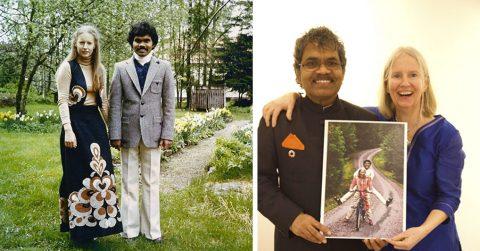 40 лет назад этот мужчина приехал на велосипеде из Индии в Швецию, чтобы жениться на любимой женщине