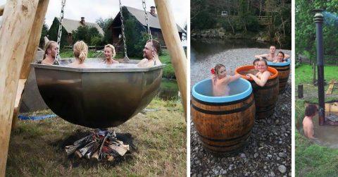 Креативные бассейны и летние душевые для дач своими руками