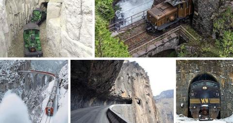 Самые опасные, красивые и невероятные туннели в мире. Вы только посмотрите на это!