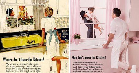 Фотограф поменял местами гендерные роли в рекламных объявлениях 50-х годов. Это может не понравиться многим мужчинам